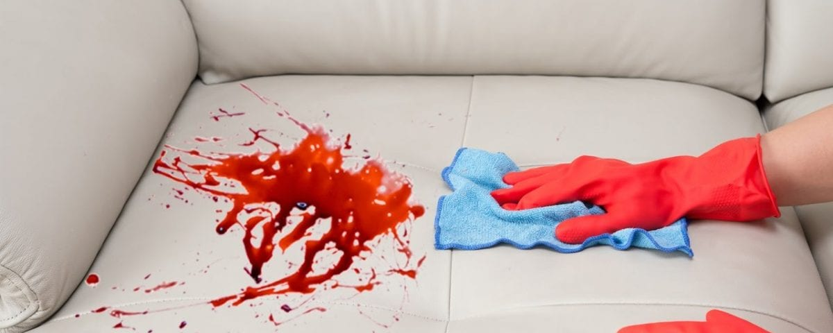 stain on a couch